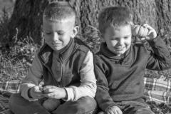 Nate's Kids in black and white