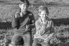 Nate's Kids in black and white II