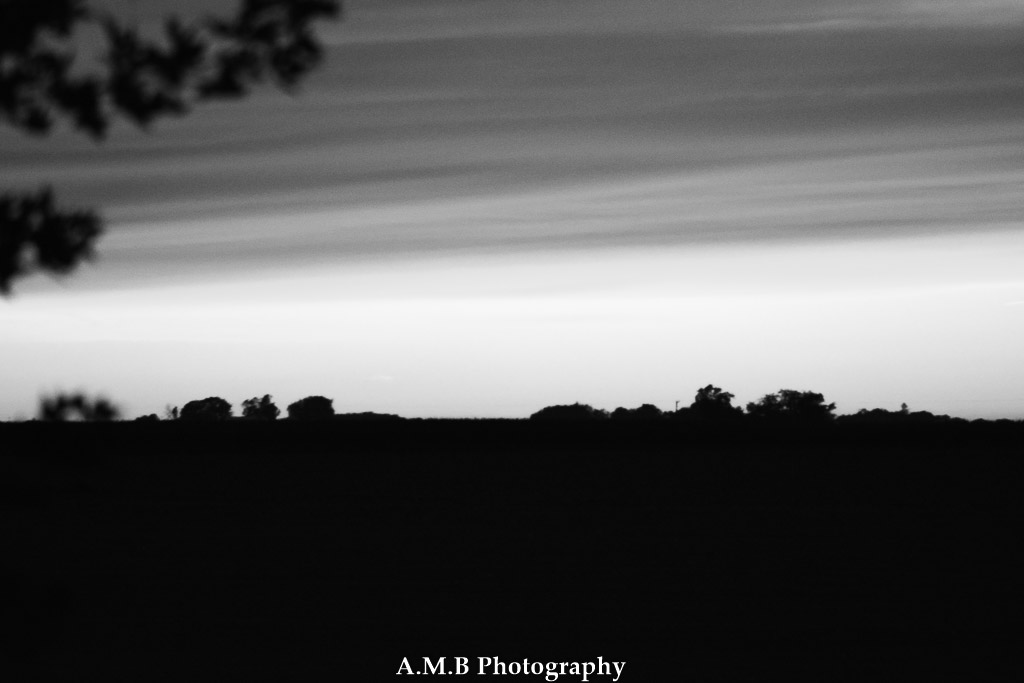 Black & White Country Sunset