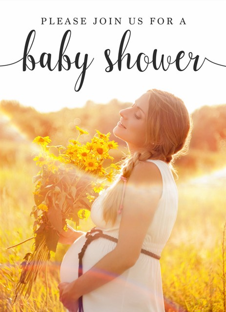 Baby Shower Invitation Choice #2 - Front