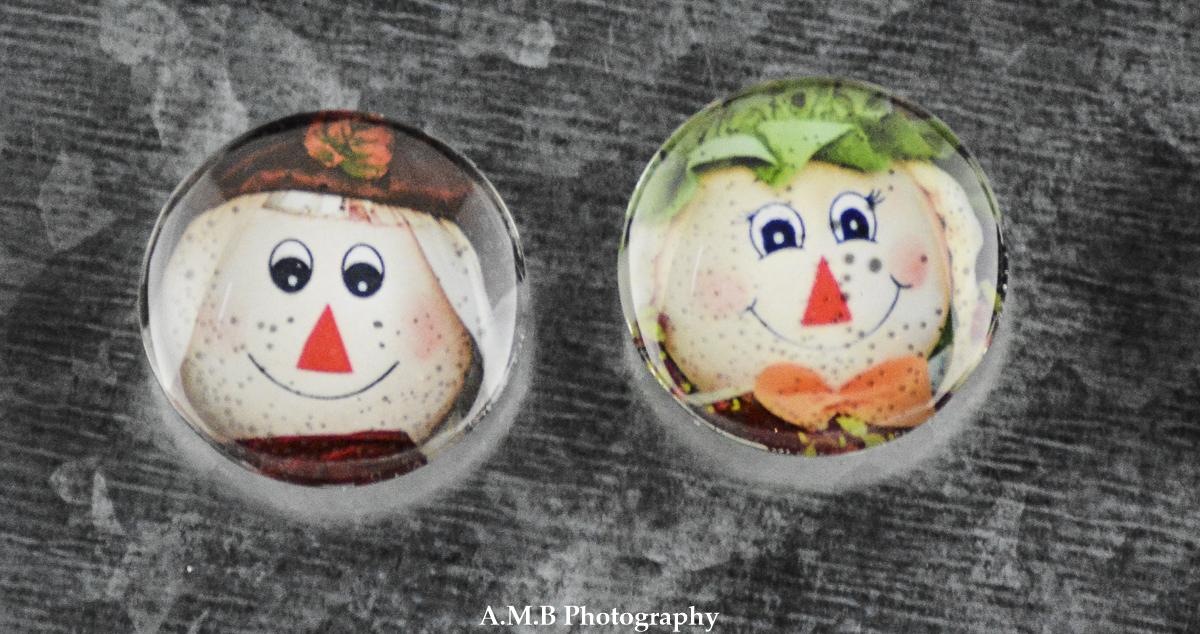 Artisan Glass Cabochon Photo Magnets