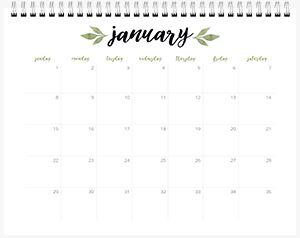 Calendar Choice #2 Page