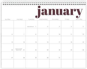 Calendar Choice #3 Page