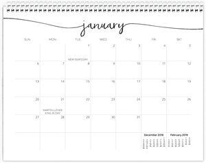Calendar Choice #4 Page