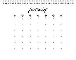 Calendar Choice #1 Page