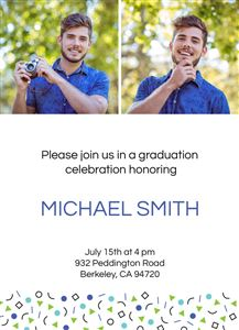 Graduation Invitation #2 - Back