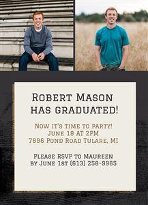 Graduation Invitation #3 - Back