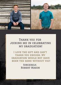 Graduation Thank You #2 - Back
