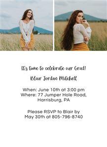 Graduation Invitation #1 - Back