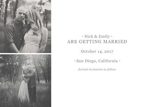 Save the Date Choice #2 - Back