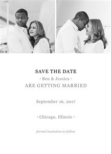 Save the Date Choice #5 - Back
