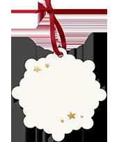 Snowflake Holiday Ornament Back
