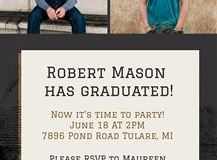 Graduation Invitation #3 - Back