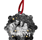 Snowflake Holiday Ornament Front