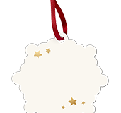 Snowflake Holiday Ornament Back